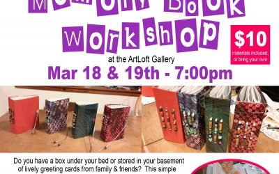 Junk Journal Workshop at the ArtLoft! March 18th and 19th, 2019 – 7:00pm