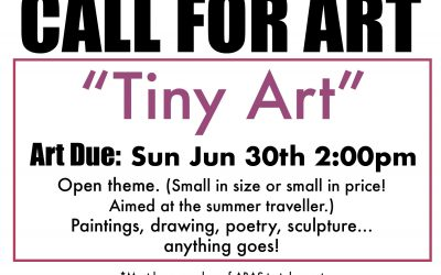Call For Art: Tiny Art